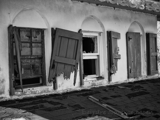 House in the Plymouth exclusion zone, Montserrat