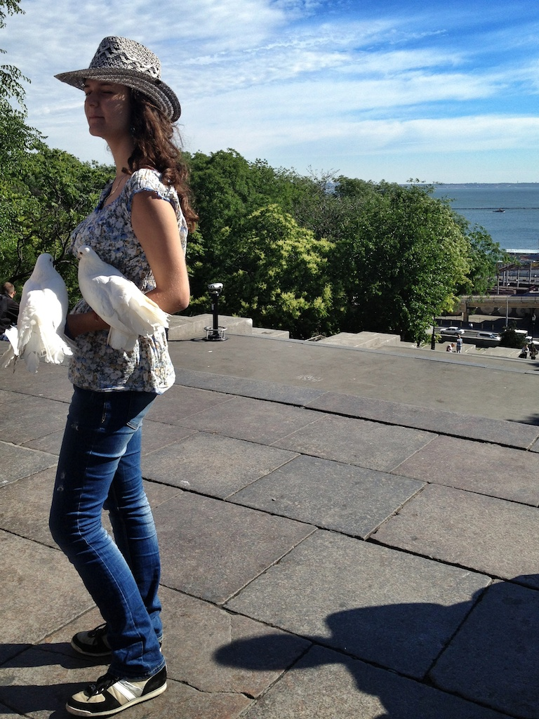 Bird Lady on Potemkin Steps