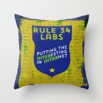 Rule 34 Labs pillow