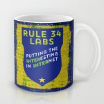 Rule 34 labs coffee mugs