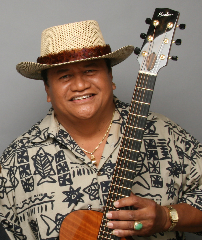 Ledward Ka'apana and his guitar