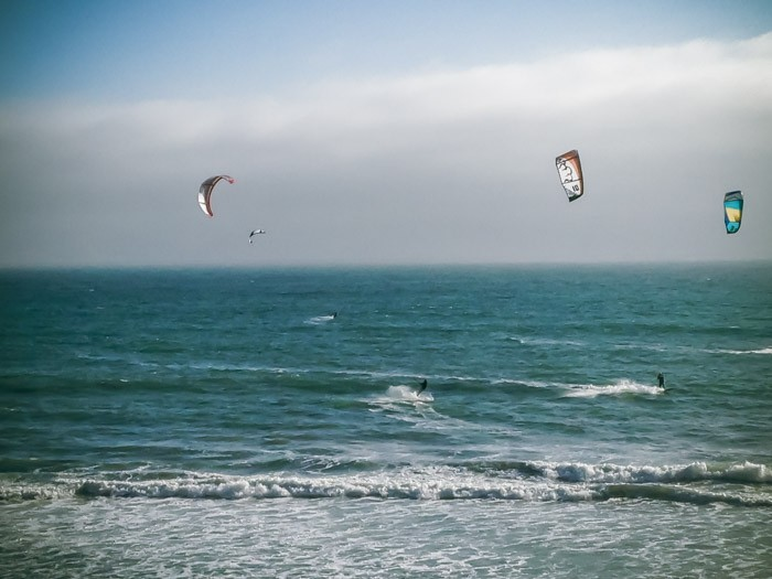 Kitesurfing in California