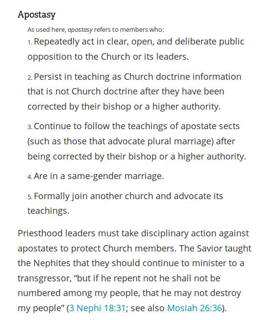 LDS apostasy definitions